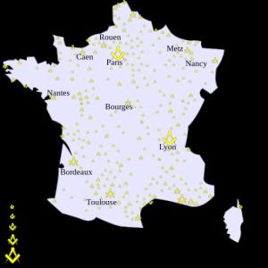 Carte Loges Maçon France